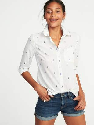 Old Navy Relaxed Classic Printed Shirt for Women