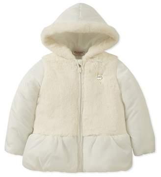 Juicy Couture Vanilla Faux Fur Trim Puff Jacket (Little Girls)