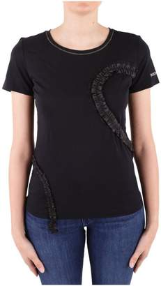 Patrizia Pepe Frilled Cotton T-shirt