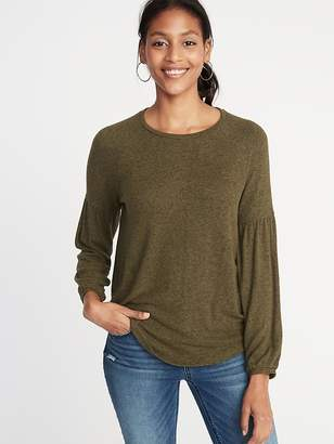Old Navy Plush-Knit Balloon-Sleeve Top for Women