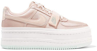 Nike Vandal 2k Faux Leather-trimmed Metallic Faille Platform Sneakers - Pink