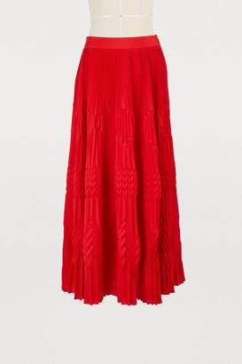 Givenchy Crepe de chine pleated skirt