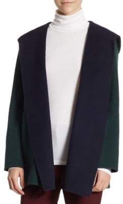 Theory Clairene Double-Faced Wool-Blend Cardigan