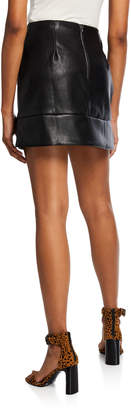 Line And Dot Stowe Faux-Leather Mini Skirt