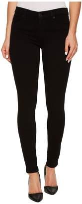 Hudson Nico Mid-Rise Super Skinny Supermodel in Black Women's Jeans