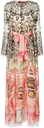 Temperley London printed tie waist maxi dress
