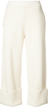 Rib Snap knitted crop trousers