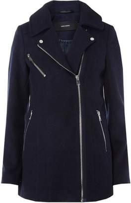 Dorothy Perkins Womens **Navy Wool Biker Jacket