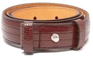 Acne Studios Lizard Effect Leather Belt - Womens - Brown
