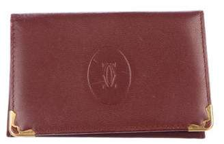 Cartier Leather Flap Card Holder