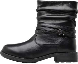 Board Angels Womens Strap Detail Boots Black