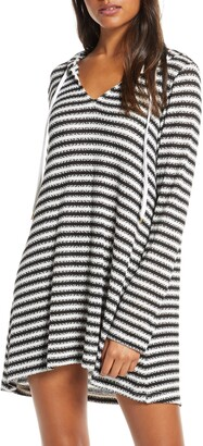 La Blanca Slouchy Hooded Sweater Cover-Up Tunic