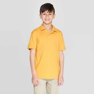 Cat & Jack Boys' Short Sleeve Interlock Uniform Polo Shirt - Cat & JackTM