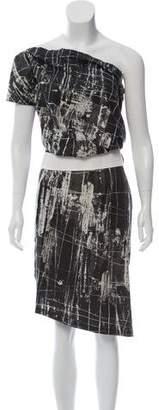 Max Mara Printed Knee-Length Dress
