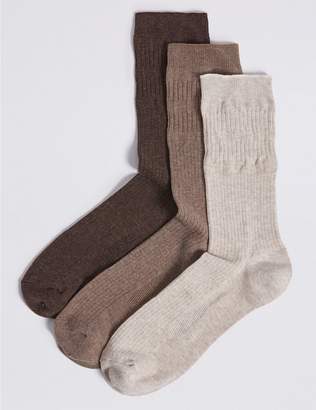 Marks and Spencer 3 Pack Freshfeet Gentle Grip Socks