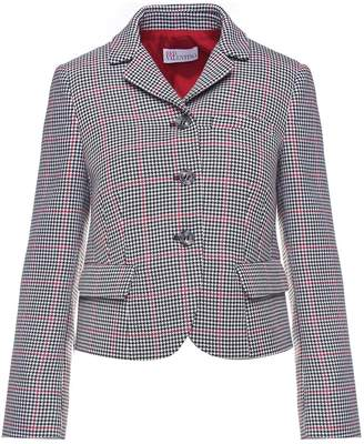 RED Valentino Houndstooth Check-print Cotton And Wool-blend Jacket