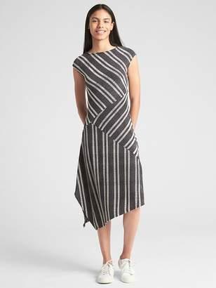 Gap Softspun Ribbed Asymmetrical Midi Dress
