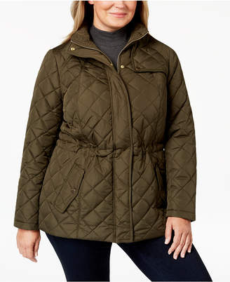 Charter Club Plus Size Quilted Zip-Front Jacket