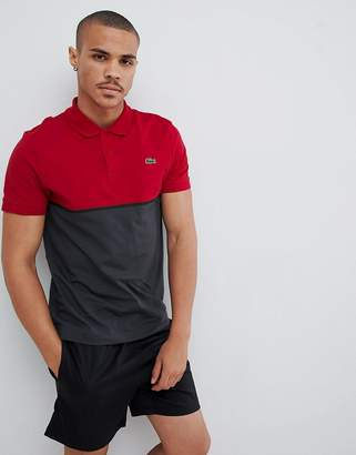 Lacoste Sport block color polo in red