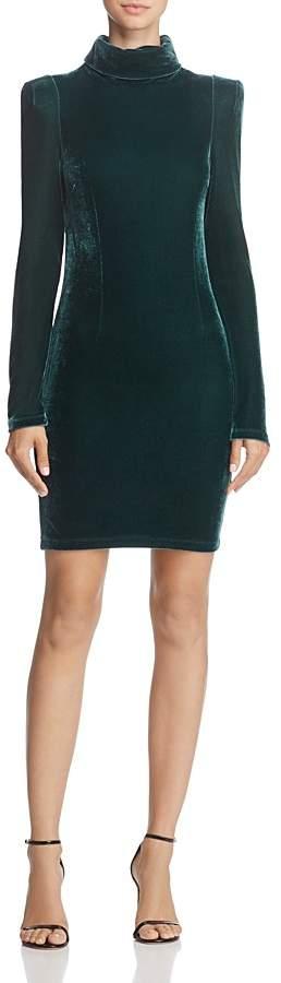 GUESS Olga Turtleneck Velvet Dress