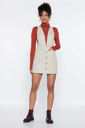 Nasty Gal All Eyes Button You Pinafore Dress