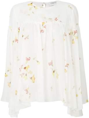 Giambattista Valli floral print flared blouse