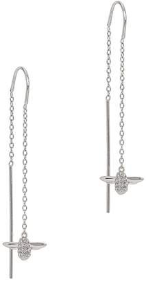 Olivia Burton Queen Bee Silver-plated Drop Earrings