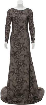 John Paul Ataker Lace Evening Gown w/ Tags
