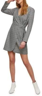 Miss Selfridge Check Wrap Dress
