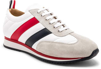 Thom Browne Calf Leather Quilted Running Shoes