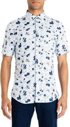 Good Man Brand Slim Fit Hibiscus Floral Print Shirt