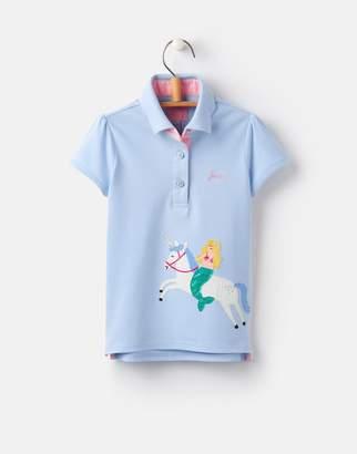 Joules Clothing Cream Party Parade Moxie Applique Polo Shirt 1yr