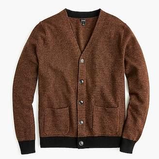 J.Crew American lambswool bird's-eye cardigan sweater