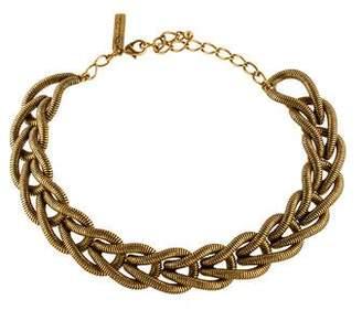 Oscar de la Renta Braided Collar Necklace