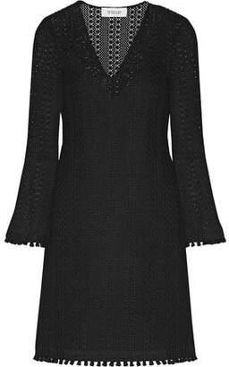 Derek Lam 10 Crosby Fringed Crocheted Cotton-Blend Mini Dress