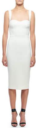 Victoria Beckham Sweetheart Neck Sleeveless Dress