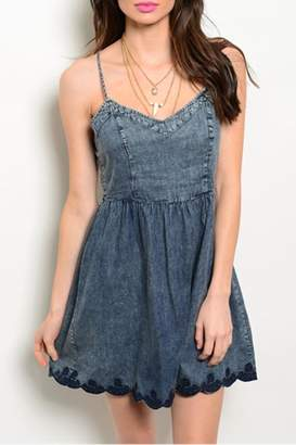 En Creme Strap Denim Dress $46 thestylecure.com