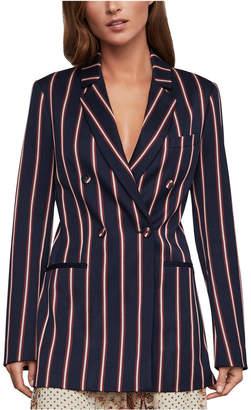 BCBGMAXAZRIA Striped Double-Breasted Blazer