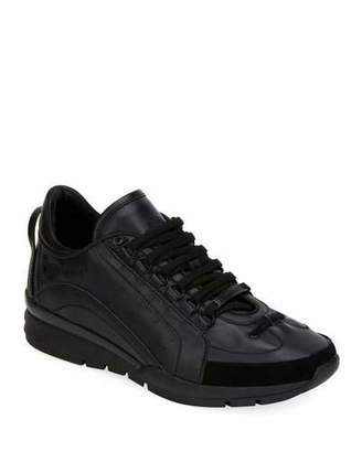 DSQUARED2 Men's High-Sole Calf Leather Training Sneakers