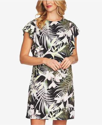 CeCe Flutter-Sleeve Shift Dress