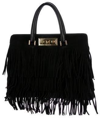 Saint Laurent Suede Medium Trois Clous Bag