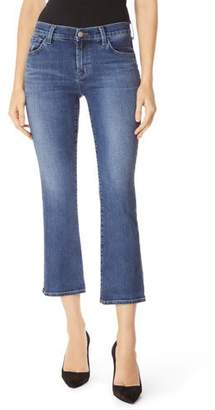 J Brand Selena Cropped Boot-Cut Jeans