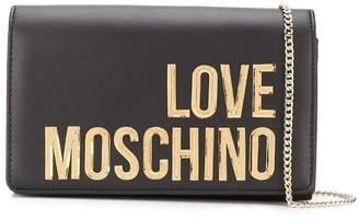 Love Moschino logo clutch bag