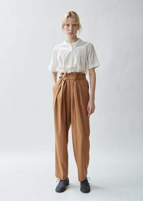 Y's Belted Tailored Twill High Waist Trousers