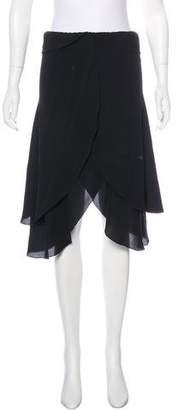 Fendi Layered Silk Skirt