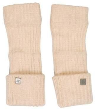 Chanel Cashmere Fingerless Gloves silver Cashmere Fingerless Gloves