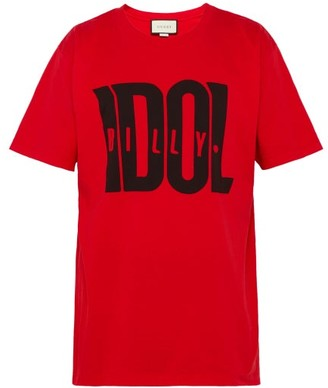 Gucci Billy Idol Printed T Shirt - Mens - Black Red