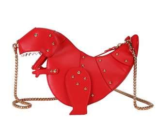 Skyseen Dinosaur Shape PU Leather Rivet Chain Crossbody Shoulder Bag Girl  Mini Clutch Purse Women Messenger e64045aea09c3