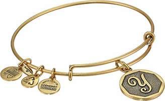 Alex and Ani Rafaelian Gold-Tone Initial E Expandable Wire Bangle Bracelet