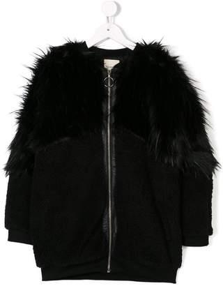 Andorine oversized zipped faux fur coat